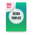 layout template in a4 size business brochure vector image vector image