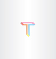 letter t t icon vector image vector image
