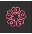 Linear Monogram vintage with vector image vector image