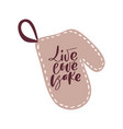 live love bake hand draw calligraphy text