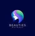 logo beauties gradient colorful style vector image