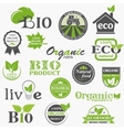 Natural organic product labels vector image vector image