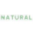 natural text halftone icon vector image vector image