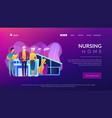 nursing home concept landing page vector image vector image