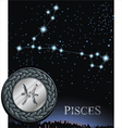 Pisces zodiac sign Fish zodiac poster vector image