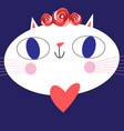 portrait of a funny big cat vector image vector image