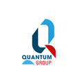 quantum group letter q icon vector image vector image