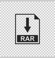 rar file document icon download rar button icon vector image vector image