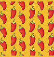 red chilis background design vector image