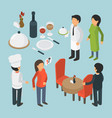 restaurant people isometric cafe person event vector image