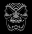 samurai mask with mustache vector image vector image