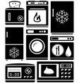 set home appliance for kitchen vector image vector image