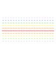 sinusoid wave shape halftone spectrum pattern vector image vector image