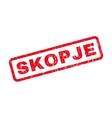 Skopje Rubber Stamp vector image vector image