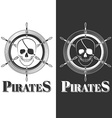 skull pirate vector image vector image