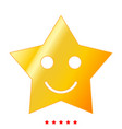 smiling star icon flat style vector image