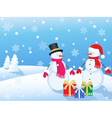 snowmans vector image vector image