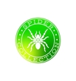 Spider collection white label design vector image vector image