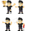 Spiky Rocker Boy Customizable Mascot 17 vector image vector image