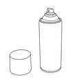Spray Paint Can outline vector image