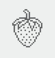 strawberry pixel icon in the eps 8 format vector image