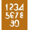 stylish brush digits handwritten numerals white vector image vector image