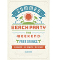 Summer party vector image vector image
