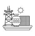 sustainable energy icons vector image vector image
