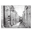 temple of abydos temple contain carvings vintage vector image vector image