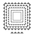 triangle brushs brushs patterns in a square line vector image vector image