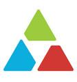 triangle logo symbol - aperture like triangle vector image