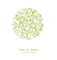 underwater abstract plants circle decor pattern vector image