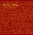 vintage red paisley texture for cards and design vector image vector image