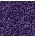 Violet waving curls dark purple seamless pattern vector image vector image