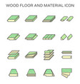 wood floor and material icon set design vector image