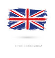 united kingdom colorful brush strokes painted vector image
