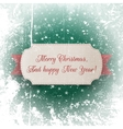 Realistic greeting Card and red Christmas Ribbon vector image