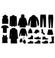 man clothes and accessories collection - fashion vector image