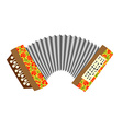 Accordion Musical instrument white background vector image