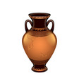 ancient vase isolated vector image vector image