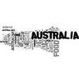 australia food text word cloud concept vector image vector image