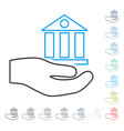bank service line icon vector image