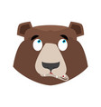 bear surprised emoji grizzly astonished emotion vector image vector image