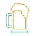 beer glass foam drink icon vector image vector image