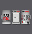 black friday tablet sale realistic web vector image