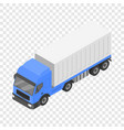 box delivery truck icon isometric style vector image vector image