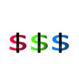 business concept dollar vector image