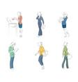 businesswomen in action vector image vector image