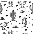 cactuses seamless pattern cactuses and vector image vector image
