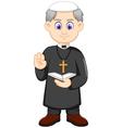 cartoon christian priest vector image vector image